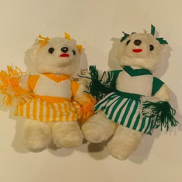 4/$15 🌻 Set of 2 Vintage Cheerleader Teddy Bears